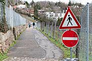 Der Blankenhornweg wird voraussichtlich bis Ende 2021 gesperrt bleiben. Foto: cg