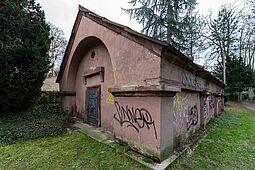 Brunnenhaus in Durlach. Foto: cg