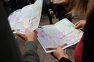 Die WeinWanderkarte erklärt den Weg zu den 6 Stationen. Foto: cg