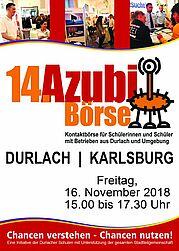 Durlacher Azubibörse am 16. November 2018. Grafik: pm
