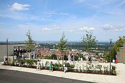 Beliebter Assichtspunkt: Die Turmbergterrasse auf dem Durlacher Hausberg. Foto: cg