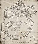 Plan Durlachs nach Thomas Lefèvre, 1688