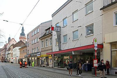 Das Modehaus Nagel in Pfinztalstraße. Foto: cg