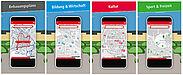Einen komfortablen Zugang per Smartphone zu einer Vielzahl von Informationen ermöglicht die neue KA-GeoApp. Grafik: pia