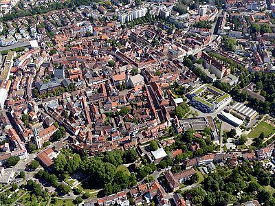 Die Durlacher Altstadt aus der Vogelperspektive. Fotos: Peter Eich