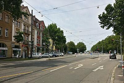 Der westliche Eingang der Pfinztalstraße. Foto: cg