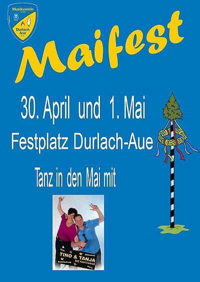 Maibaumstellen und Maifest 2019 in Aue. Grafik: pm