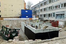 Baustelle der Schloss-Schule. Foto: cg
