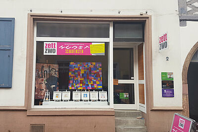 """Das """"Kunstschaufenster"""" in der Durlacher Zunftstraße. Foto: pm"""