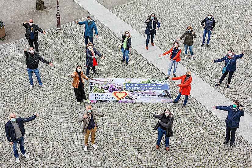 """#DuFürDurlach – """"Mit Eurem Einkauf Vielfalt erhalten"""" Foto: jow"""