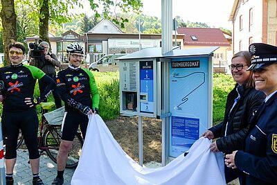 Start für den Turmbergomat (Neßlerstraße). Fotos: cg