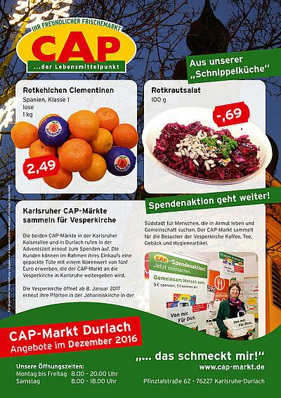 CAP-Markt: Angebote im Dezember 2016