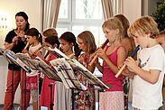 Die Blockflöten-Gruppe beim Tag der offenen Tür des Musikforums. Foto: cg