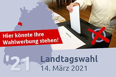 Landtagswahl 2021: Parteienwerbung auf Durlacher.de. Grafik: cg