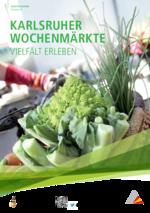 Marktzeiten der Karlsruher Wochenmärkte (PDF)