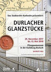 Durlacher Glanzstücke – Sonderausstellung im Pfinzgaumuseum. Grafik: pm