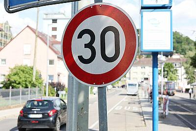 Städteinitiative für Tempo 30 innerorts. Foto: cg