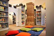Kinderbuchabteilung in der Stadtteilbibliothek Durlach. Foto: cg