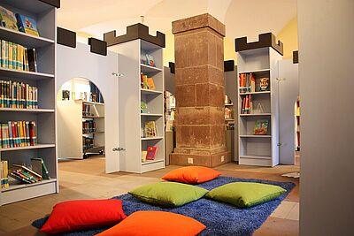 Stadtbibliothek Durlach - Kinderbuchabteilung. Foto: cg
