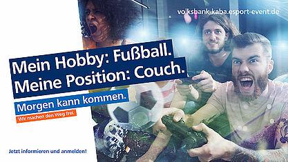 Volksbank: Qualifikationsturnier für den VR eSports Cup. Grafik: pm