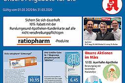 Rundum gesund Apotheken: Aktionen und Angebote im März 2020. Grafik: pm