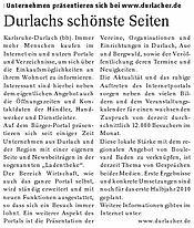 Boulevard Baden - Ausgabe Durlach und Umgebung | 14. März 2010