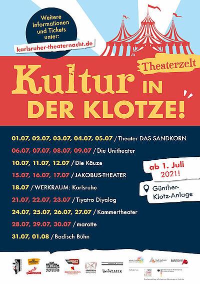 Theaterzelt entsteht in der Günther-Klotz-Anlage. Grafik: pm
