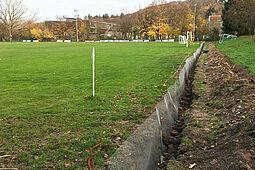 Das Gartenbauamt Durlach arbeitet an der Eindämmung der Maulwurf-Plage. Foto: pm