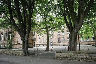 Markgrafen-Gymnasium in Durlach. Foto: cg