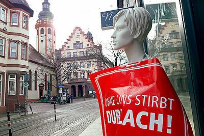 Nicht nur Einzelhändler und Gastronomen brauchen eine Perspektive in Durlach. Foto: cg