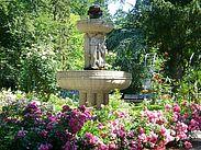 Der Nibelungenbrunnen im Durlacher Schlossgarten. Foto: cg
