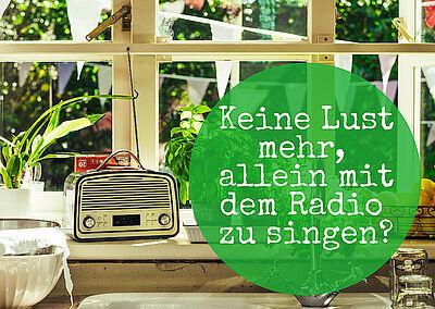 Keine Lust mehr, alleine vor dem Radio zu singen? Grafik: pm