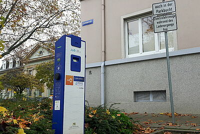 Ladestation in Durlach: In Karlsruhe liegt der Anteil an E-Fahrzeugen bei 0,8 Prozent (Stand: Januar 2020). Foto: cg