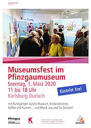 Programm für die ganze Familie beim Museumsfest im Pfinzgaumuseum. Grafik: pm