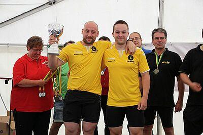 Tradition kommt an: Schubkarrenrennen in Aue. Foto: om