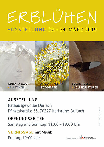 "Kunstausstellung ""ERBLÜHEN"". Grafik: pm"