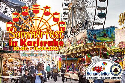 """Die Schausteller laden ein zum """"Sommerfest in Karlsruhe"""" Grafik: pm"""