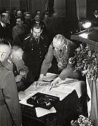 Unterzeichnung des Eingemeindungsvertrages, 1938