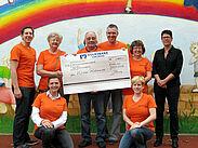 Das St. Antonius-Kinderheim Karlsruhe durfte sich über 1.400 Euro freuen. Foto: pm