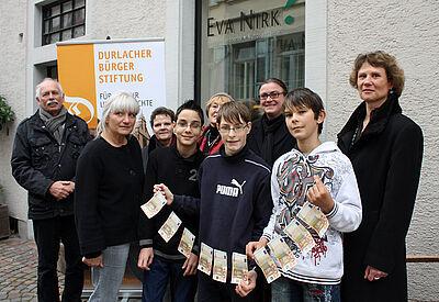 Die ersten Zinserträge erhielt 2011 die Schule am Turmberg für Kunstprojekte. Foto: cg