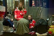 Herzenswärme gegen Eiseskälte. Foto: Oliver Willikonsky / DRK Kreisverband Stuttgart