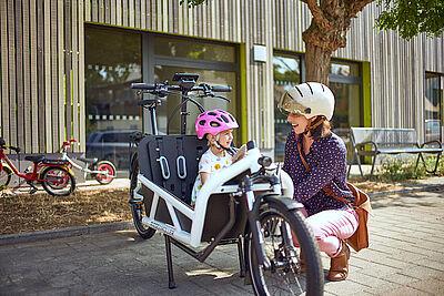 Lastenräder für Familien – weitere 60.000 Euro stellt die Stadt Karlsruhe zur Verfügung. Foto: Riese&Müller
