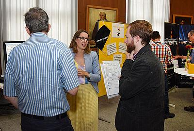 Markt der Ideen: Bei der Konferenz zur Digitalisierung hatten städtische Führungskräfte vielfach Gelegenheit, sich einzubringen. Foto: Stadt Karlsruhe