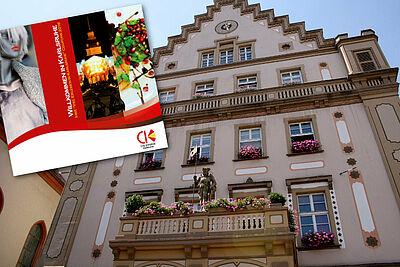 Auch in Durlach wird das Willkommensgeschenk an Neubürger überreicht. Foto: cg / Grafik: pm