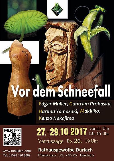 """Ausstellung """"Vor dem Schneefall"""" im Rathausgewölbe. Grafik: pm"""