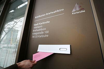 Zentrale Anlaufstelle: Das Briefwahlbüro in der Kriegsstraße 100 öffnet ab Mittwoch, 10. Februar, seine Pforten. Foto: Stadt Karlsruhe/Steffler