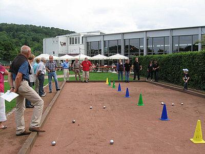Boule-Turnier bei der TG Aue. Foto: pm