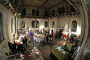 ARTVENT in der Durlacher Orgelfabrik. Fotos: cg / Grafik: pm
