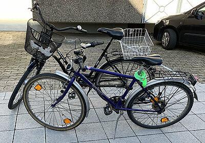 Fahrräder suchen Eigentümer. Foto: pol