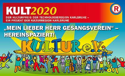 Bis Ende Juni können sich Vereine oder vereinsähnliche Zusammenschlüsse im Kulturbereich für den KULT2020 bewerben. Grafik: pm